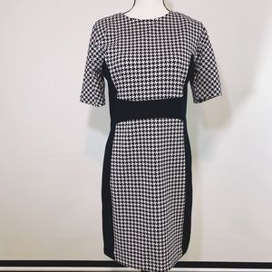 Michael Kors Houndstooth Midi Dress Sz 8